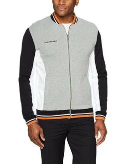 Calvin Klein Jeans Men's Full Zip Athletic Jacket Color Bloc