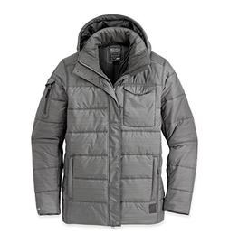 Outdoor Research Men's Ketchum Parka, Pewter, Large