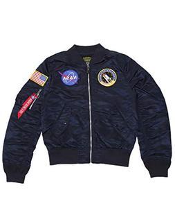 Alpha Industries Men's L-2B NASA Flight Jacket, Replica Blue