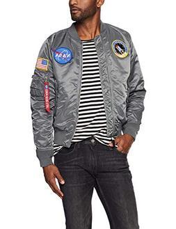 Alpha Industries Men's L-2B NASA Flight Jacket, Gun Metal S