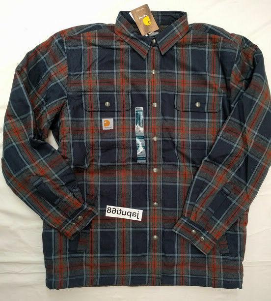 Carhartt Mens Sherpa Lined Flannel