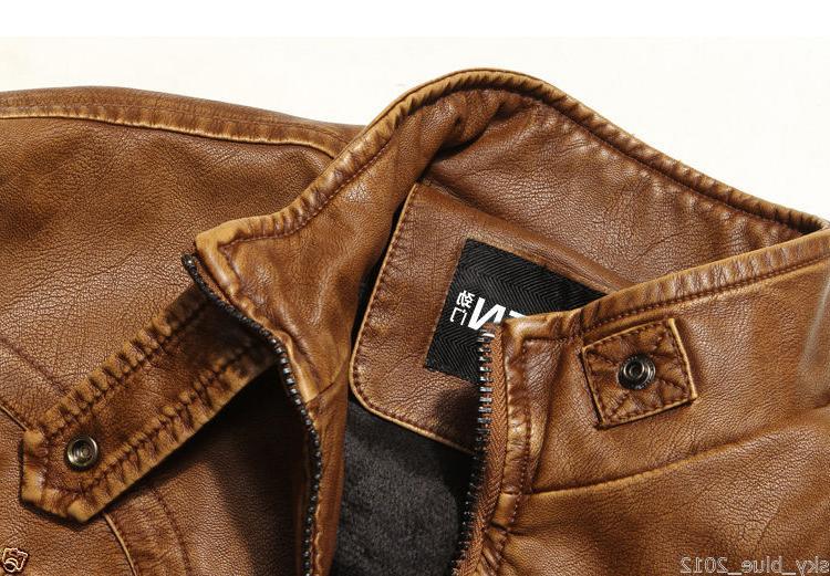 2019 Men's Genuine Leather Jacket Fit Biker Jacket
