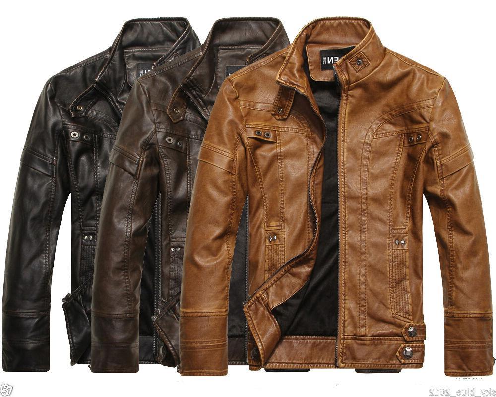 2019 men s genuine lambskin leather jacket