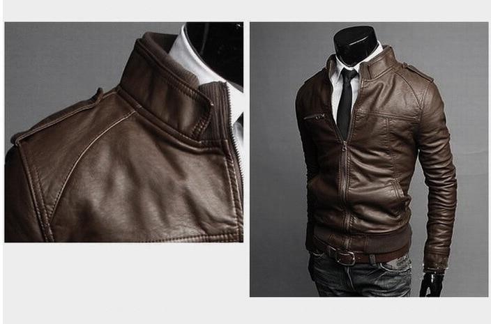 Male <font><b>Leather</b></font> Coats