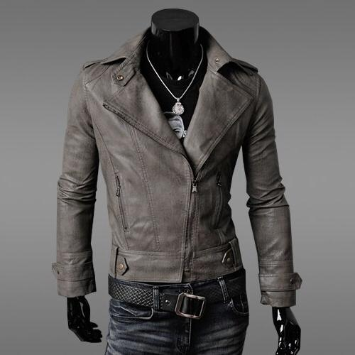 2019 New Spring Autumn Clothing Slim <font><b>Leather</b></font> <font><b>Jacket</b></font> <font><b>Jacket</b></font> <font><b>Men's</b></font> Color Casual