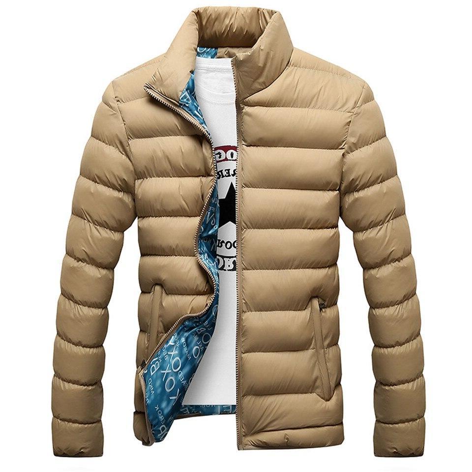 RUELK Quality Winter Outerwear Thick Coat <font><b>Men</b></font> Parka
