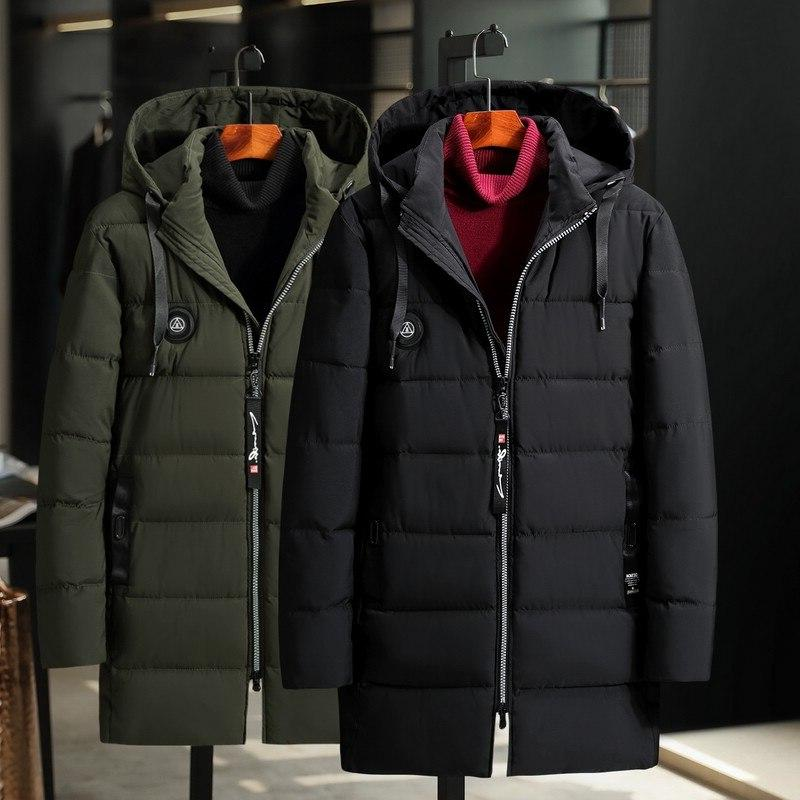 2019 Sale Windproof Cotton <font><b>Men's</b></font> Long <font><b>Jacket</b></font> <font><b>Large</b></font> Size Winter Coat Fat Loose Parka New Thick Windbreaker