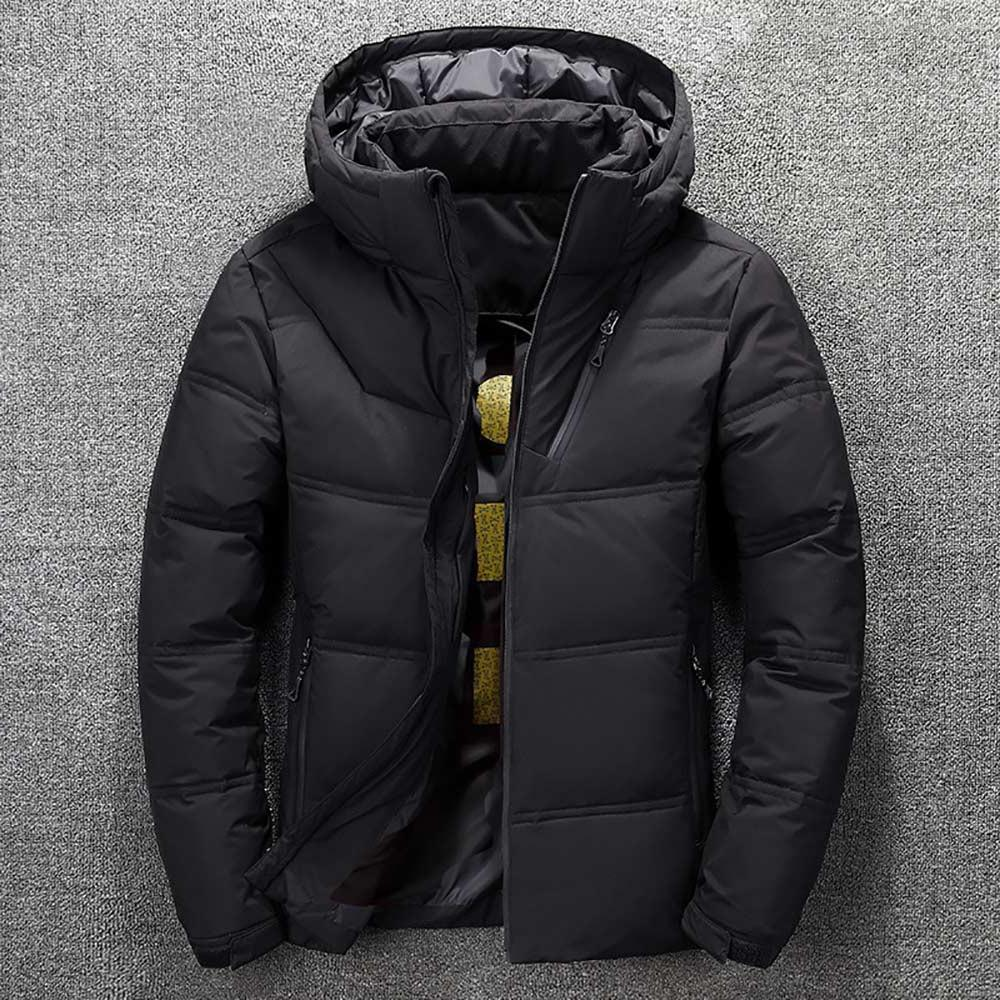 2019 Winter <font><b>Mens</b></font> Quality Thermal Thick Snow Male Outwear - White Duck <font><b>Jacket</b></font>