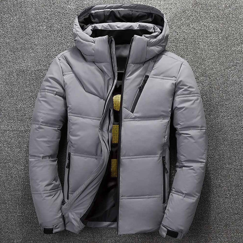 2019 <font><b>Jacket</b></font> Quality Snow Red Black Parka - White Duck <font><b>Jacket</b></font>