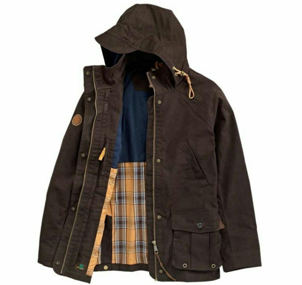 $298 TIMBERLAND MEN'S MOUNT DAVIS 3-IN-1 WAXED CANVAS JACKET