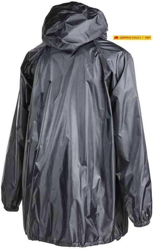 4Ucycling Raincoat Wind Rain Jacket Poncho Coat Outdoor,Black One