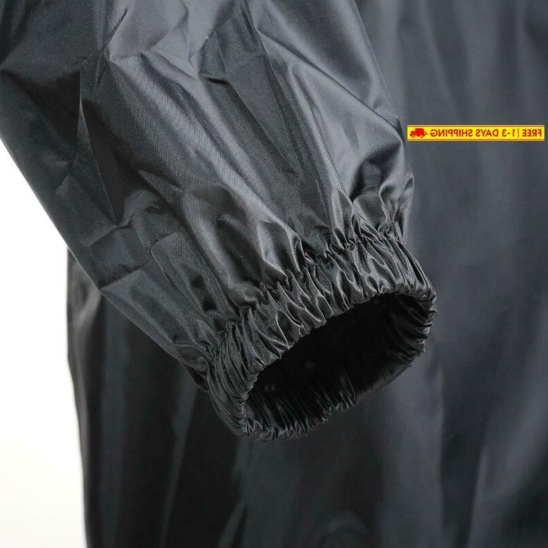 4Ucycling Raincoat Easy Wind Jacket Coat Outdoor,Black One Siz