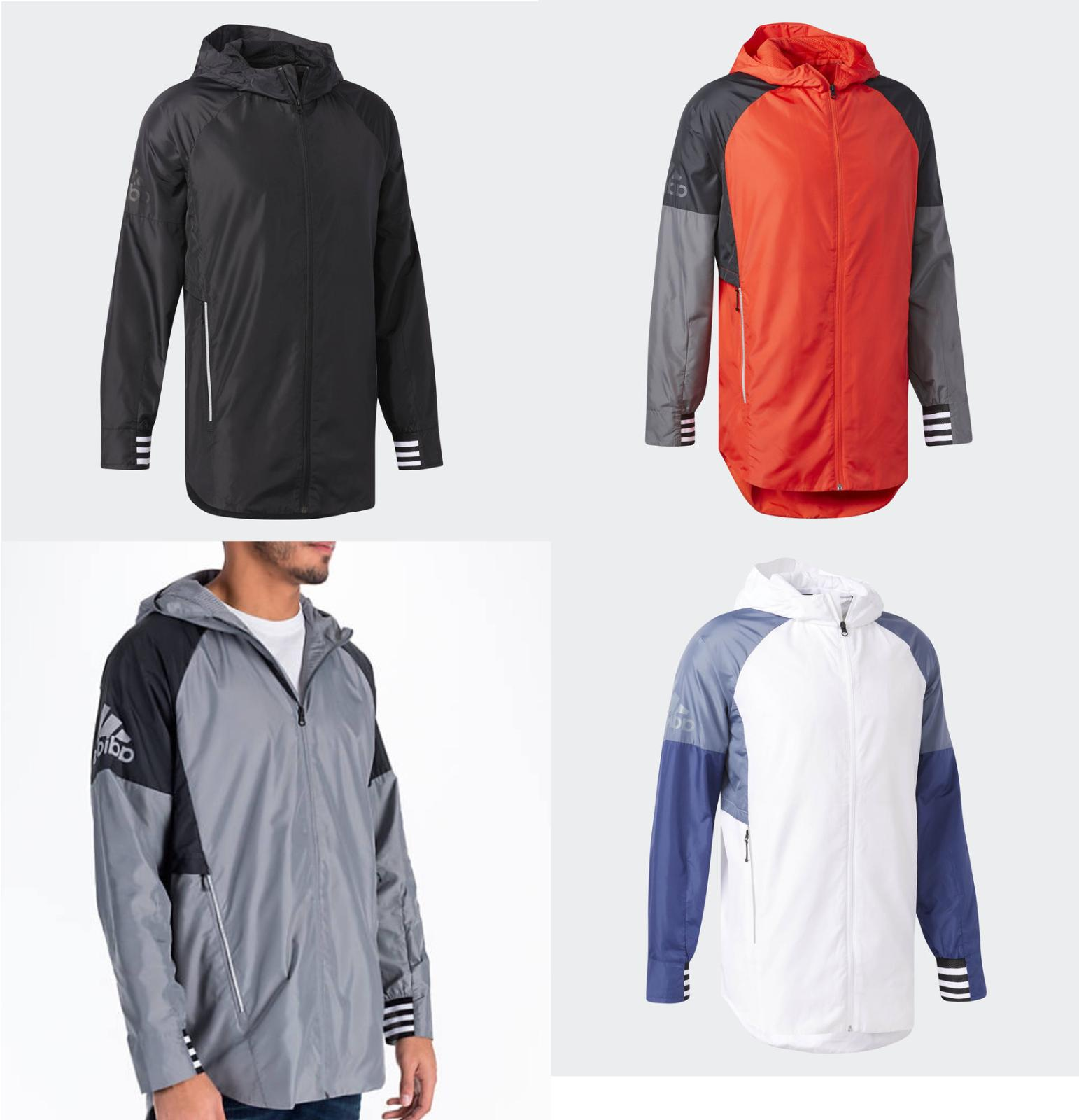 Adidas Men's ID Woven Shell Jacket Coat Hooded All Sizes Col
