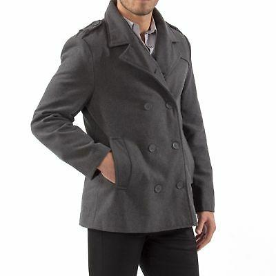 Alpine Pea Wool Double Dress Jacket Peacoat
