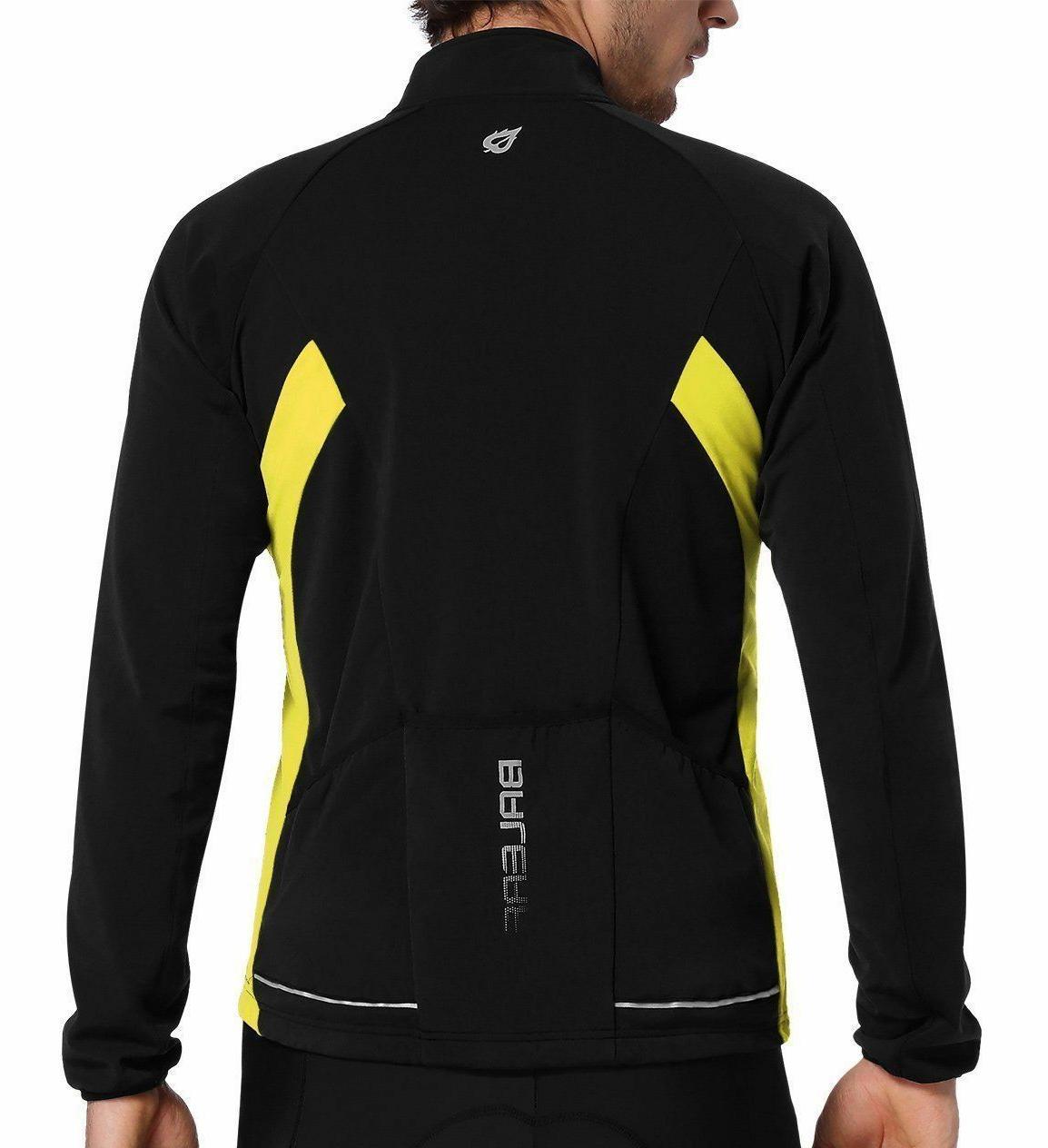 Baleaf Men's Full Long Sleeve Thermal Jersey Windproof M