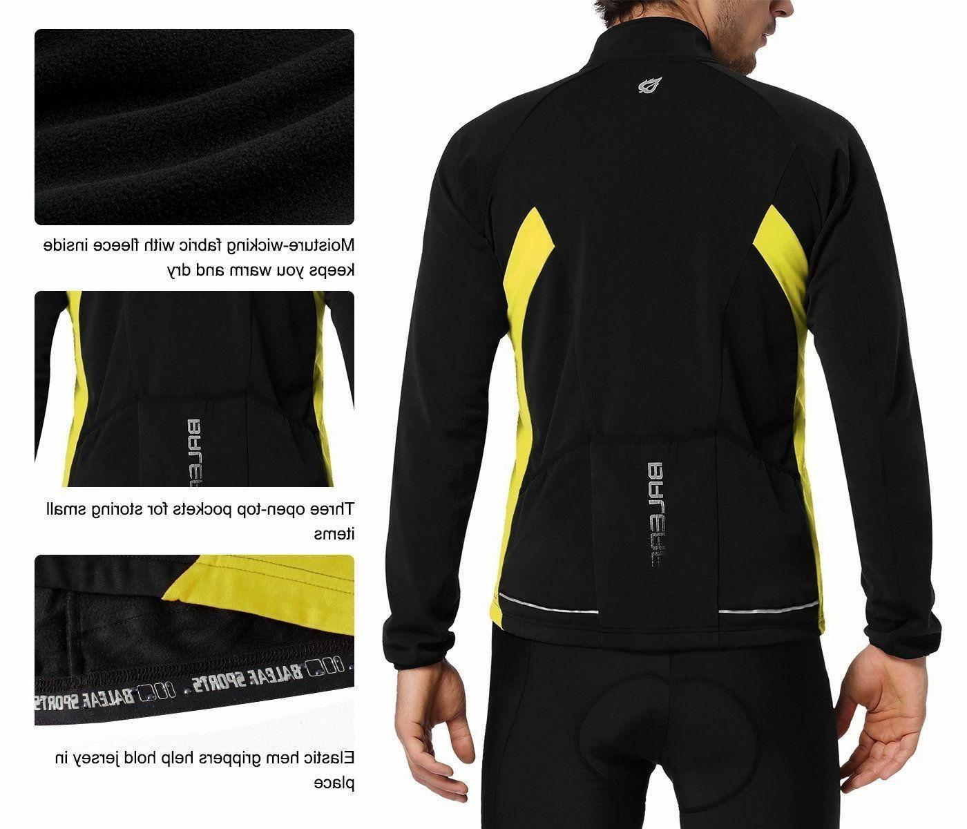 Long Thermal Jersey Windproof Jacket SZ M