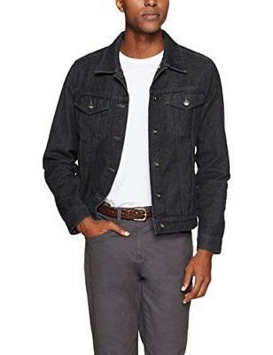 Goodthreads Men's Denim Jacket, Black, Medium