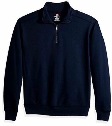 Hanes Mens Nano Quarter-Zip Fleece Jacket L- Select SZ/Color