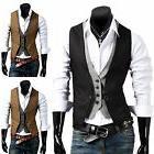 Men Casual Suit Vest Slim Fit Dress Formal Waistcoat Busines