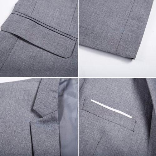 Men's Fit One Button Business Coat Jacket Tops