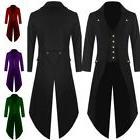 Men's Vintage Steampunk Tailcoat Jacket Gothic Victorian Fro