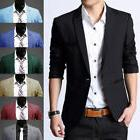 Mens Formal Suit Blazer Coat Business Casual One Button Slim
