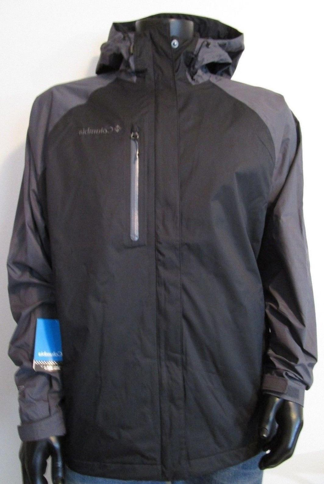 NWT Mens Columbia Down River II Hooded Waterproof Omni Heat