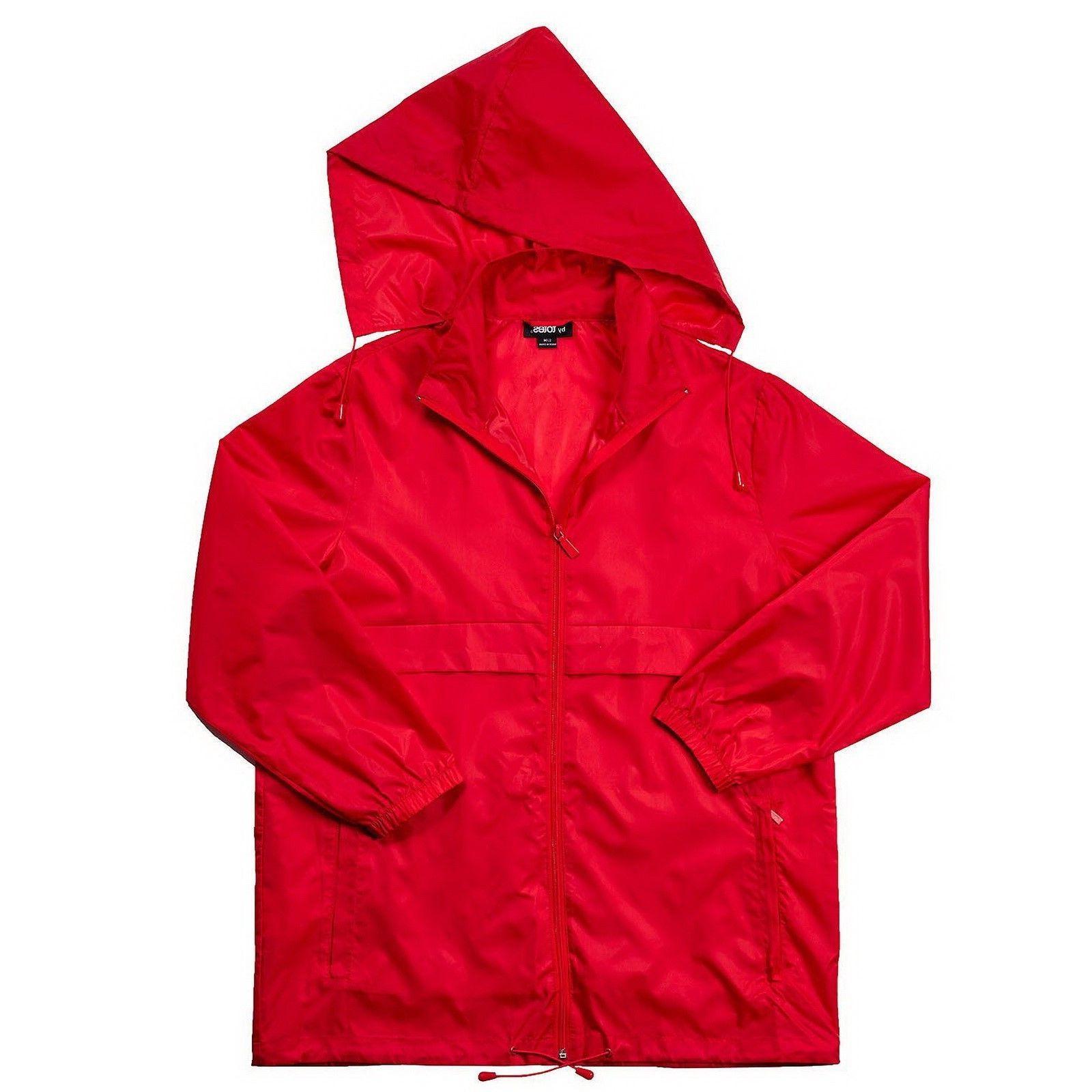 Packable Women's Rain Coat Totes Anorak Poncho Jacket + Hood