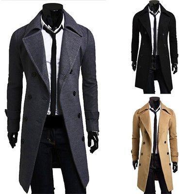 Plus Warm Jacket Breasted Wool Coat Tops