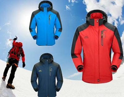 S-2XL Men Waterproof Sports Hiking Jacket Winter Ski Outdoor