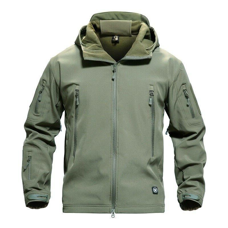 TACVASEN Tactical Soft Shell Men Jacket Army Windbreaker Outdoor