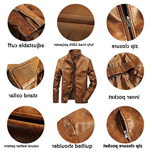 WULFUL Leather Jacket Faux