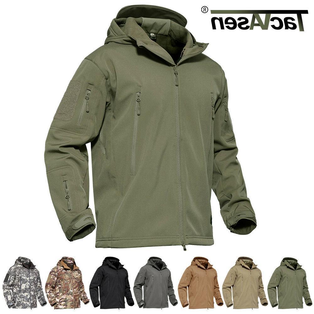 Waterproof Tactical Soft Shell Mens Jacket Coat Army Militar