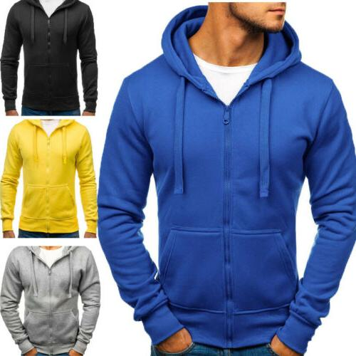 adult plain fleece hoodie hooded jacket men
