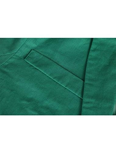 Allegra K Decor Flap Blazer Green 44