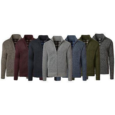 Alta Men's Casual Fleece Lined Full-Zip Sweater Jacket