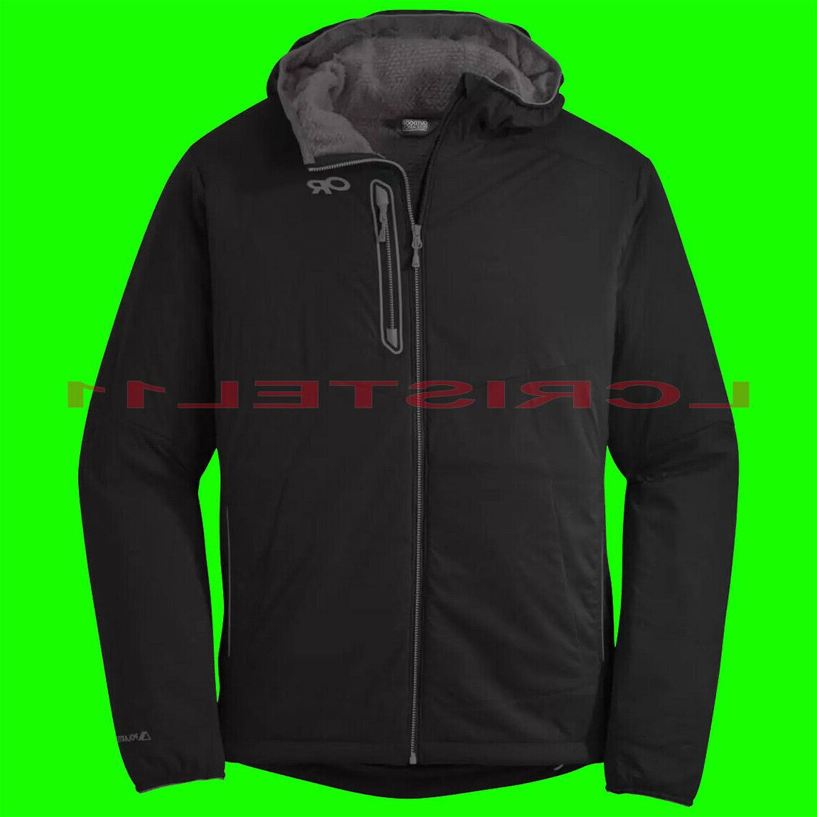 Outdoor Research Ascendant Hooded Jacket - Men's Black/Pewte