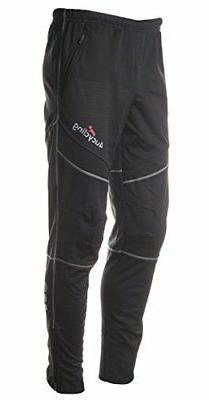 4ucycling men's athletic active thermal pants black Xl-gangs