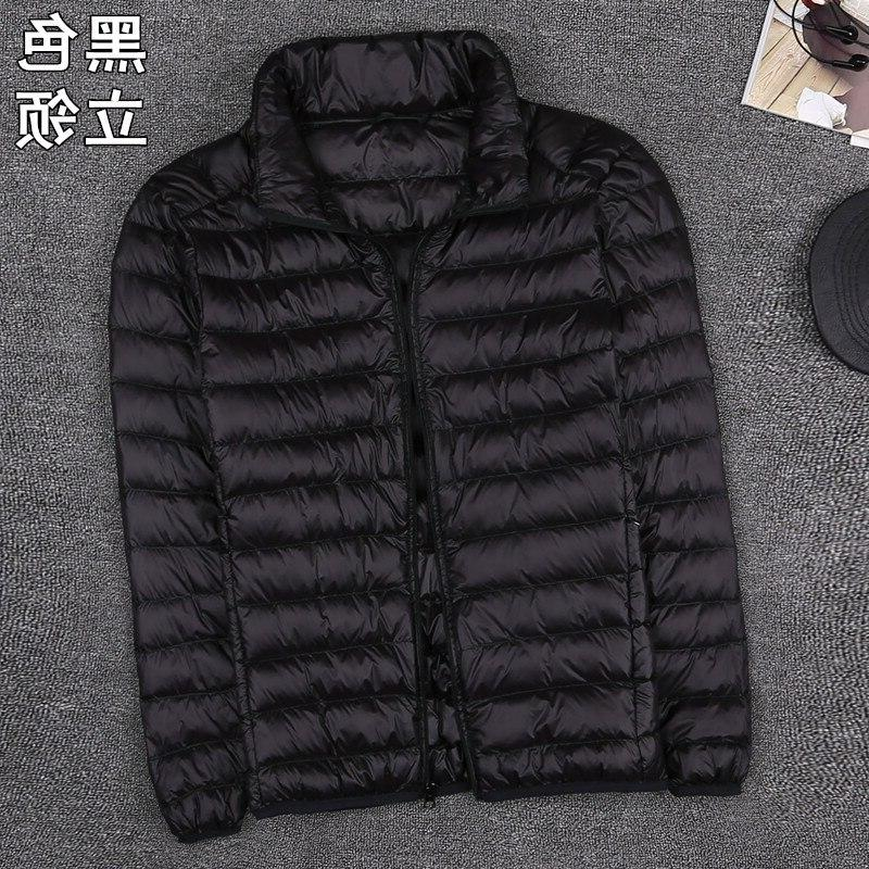 Autumn New Clothes Fashion Boutique Solid Ultra-thin <font><b>Light</b></font> Comfortable Casual Hooded Duck Down <font><b>Jacket</b></font>