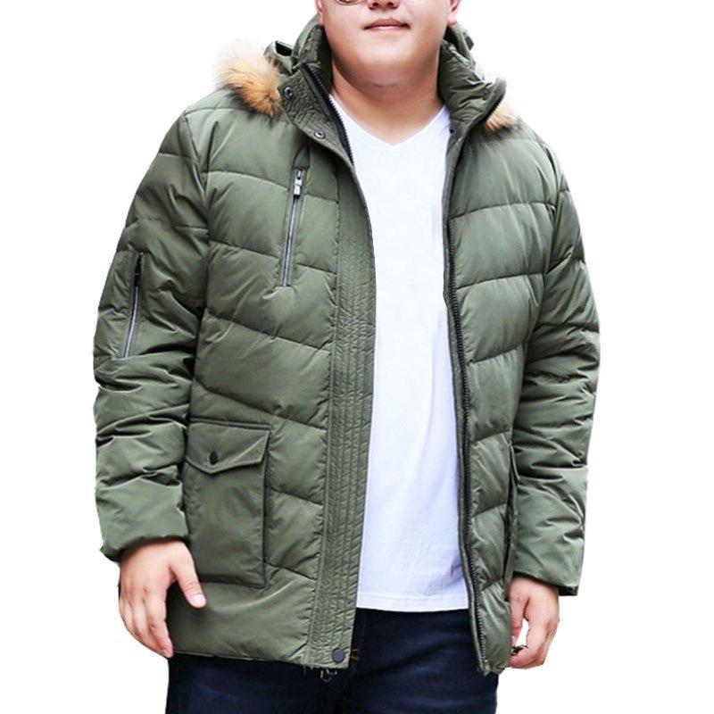 MFERLIER Winter <font><b>jackets</b></font> 7XL 9XL 10XL keep Causal sleeve