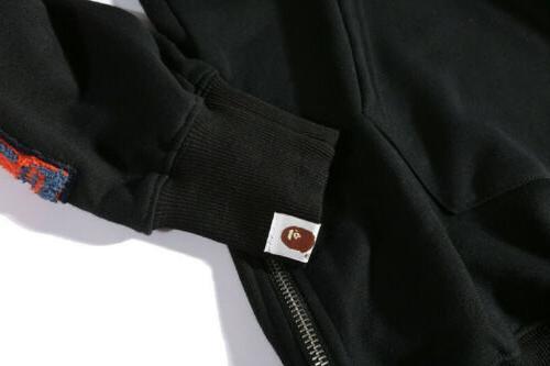 BAPE Men's Hoodie Black Sweatshirts Fashion