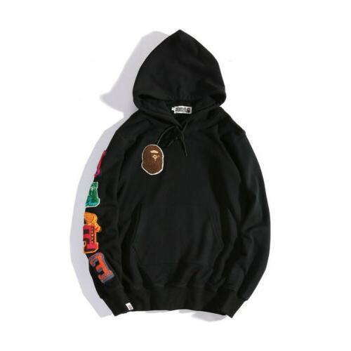 BAPE Men's Hoodie Black Sweatshirts
