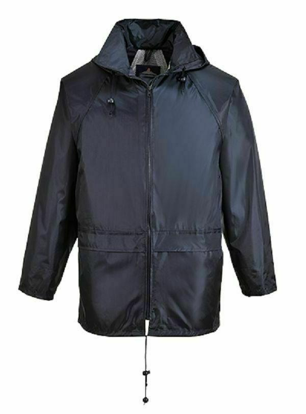 black classic rain jacket waterproof durable sealed