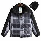 ZeroXposur Black Revel Snowboard Jacket with Hat men $200 SM