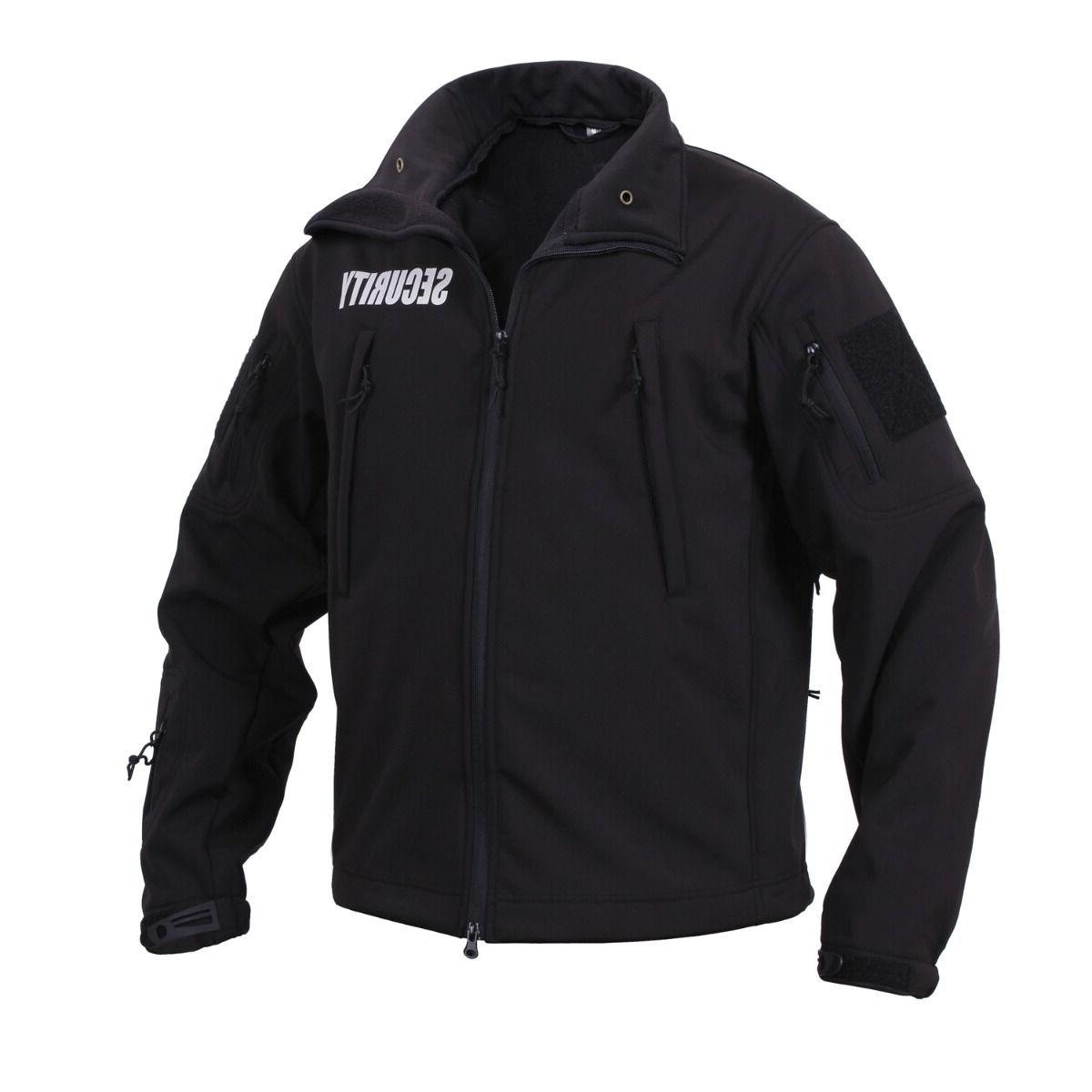 black security special ops soft shell jacket