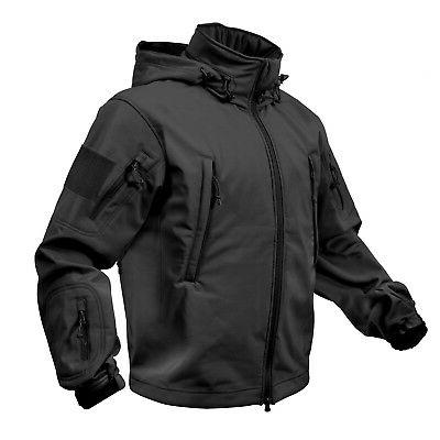 black special ops military tactical soft shell