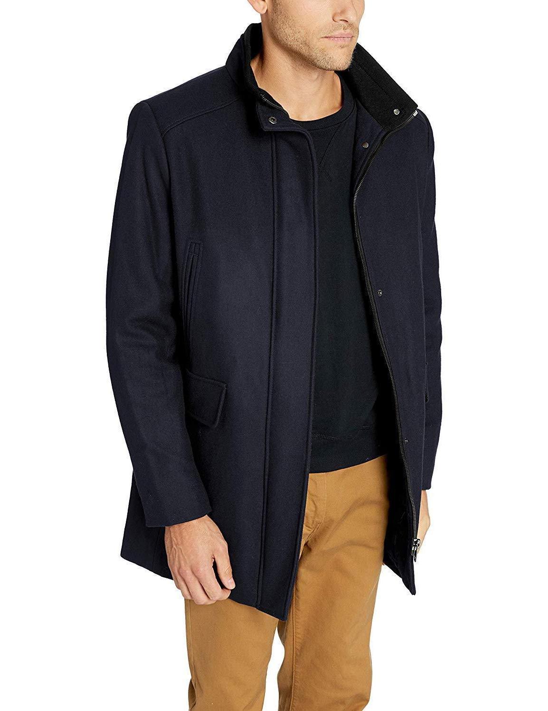 calvin klein men s wool walker coat