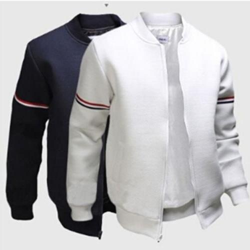 chic men baseball outwear coat bike motorcycle