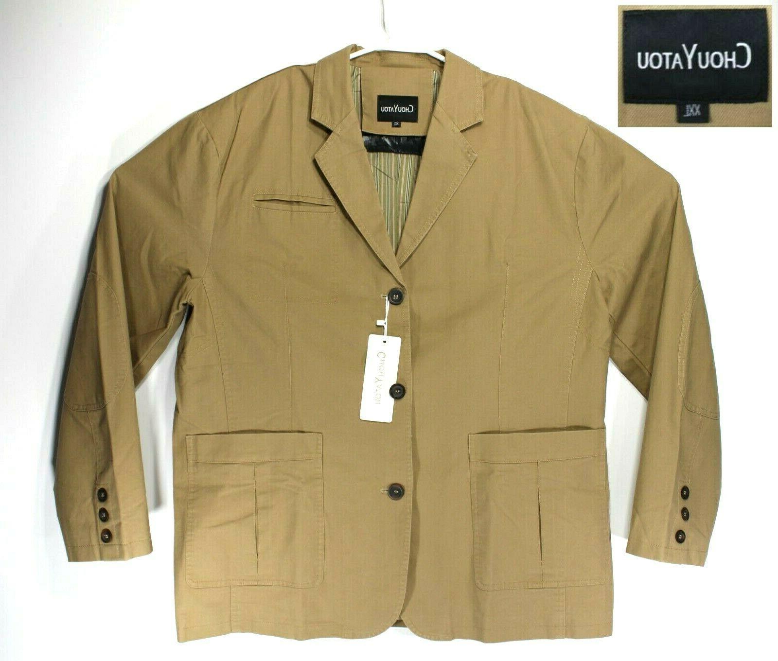 cotton twill suit jacket men size xxl