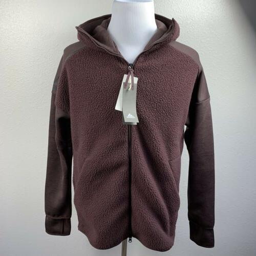 Adidas CY9902 ZNE Track Jacket Burgundy Medium NWT $140